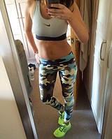 Лосины спортивные женские Хаки