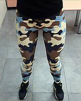 Спортивные лосины женские Камуфляж