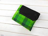 Коврик для пикника с непромокаемым дном 135*175 см зеленая, фото 1