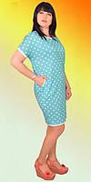 Красивое платье с коротким рукавом из натуральной ткани