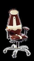 Кресло Galaxy (Галакси) экокожа коричневая-белая (ТМ Kulik System)