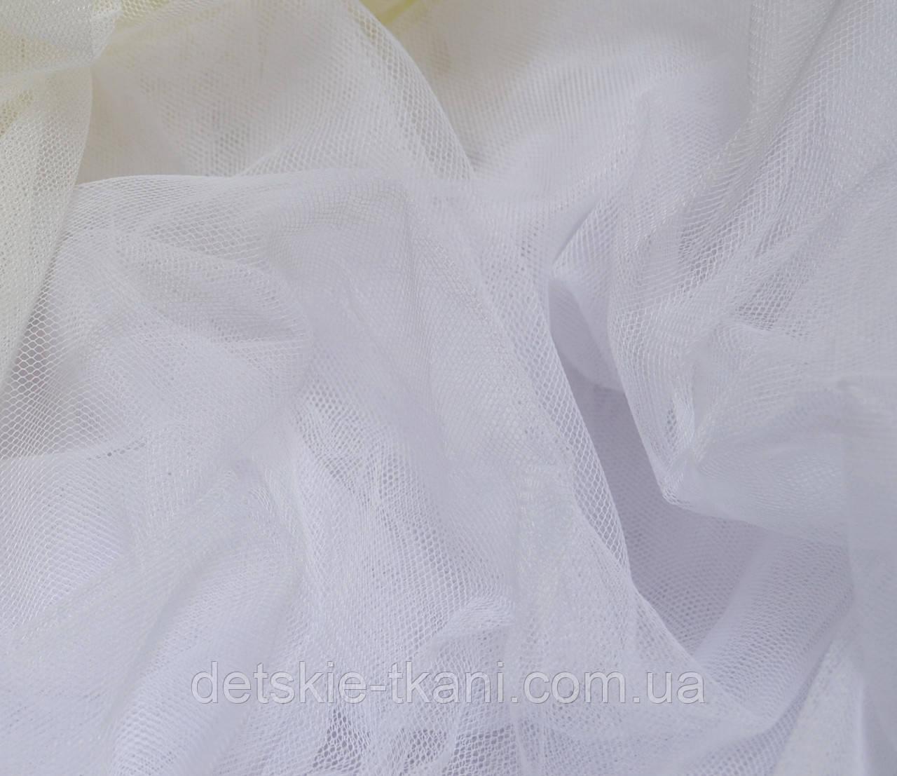 Мягкий фатин белого цвета, ширина 180 см