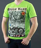 Салатовая мужская футболка