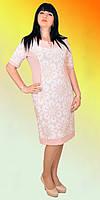 Красивое женское платье в пастельном тоне