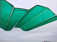 Гофрированный поликарбонат BORREX 1.05х2 метра Зеленый