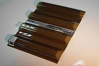 Гофрированный поликарбонат SUNTUF 1.26х3 метра Бронза, фото 1