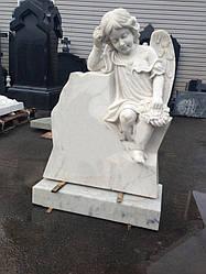 Скульптура ангелочка из мрамора № 3