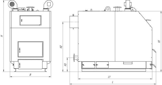 ALTEP КТ-3ЕN стальной  твердотопливный котел длительного горения