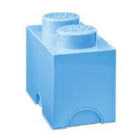 Двухточечный голубой контейнер для хранения Lego PlastTeam 40021736