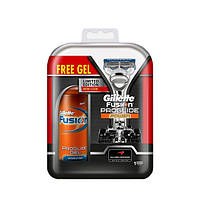 Набор Gillette Fusion ProGlide Power + Gel Fusion 75 ml