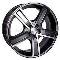 Литые диски Racing Wheels H-412 R16 W7 PCD5x100 ET35 DIA73.1 (BK-F/P)