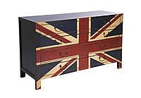 """Комод """"Британский флаг"""" из массива дерева 007"""
