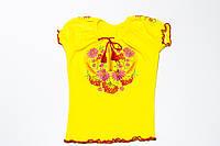 Вышиванка для девочки с коротким рукавом