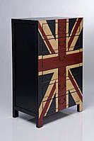 """Комод """"Британский флаг"""" из массива дерева 008"""