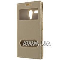 Чехол книжка с окошком для Motorola Moto G XT1031 (CDMA) золотой