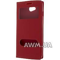 Чехол книжка с окошком для LG L90 красный