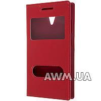 Чехол книжка с окошком для Lenovo A319 красный