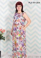 Длинное летнее платье, размеры 44-54, фото 1
