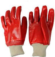 Перчатки МБС  (масло бензо стойкая)   ПВХ красные