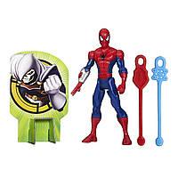 Боевая фигурка Человек-паук высотой 15 см с паутинными снарядами. Оригинал Hasbro