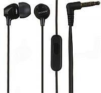 Наушники / гарнитура для телефона вакуумные SONY MDR-EX15AP Black (закрытые, проводные 3.5 mm mini-jack, сопро