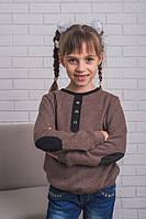 Кофта детская ангора коричневая, фото 1