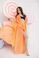 Женская пляжная туника в оранжевом цвете