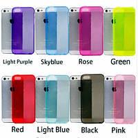 Силиконовые чехлы для iphone 5 5s с заглушками от пыли! Все цвета в ассортименте.