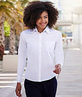 Рубашка женская Lady-Fit Long Sleeve Poplin Shirt, L (46-48), Белый