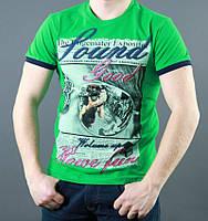 Насыщенно зелёная мужская футболка