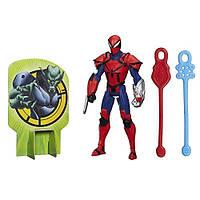 Боевая фигурка Рыцарь Человек-паук высотой 15 см с паутинными снарядами. Оригинал Hasbro