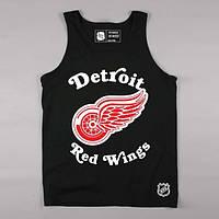 """Майка мужская стильная черная """"Detroit Red Wings"""""""