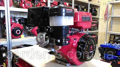 Бензиновый двигатель WEIMA WM190F-S2P NEW 16 лс (вал 25 мм шпонка + Шкив 2 ручья), фото 3