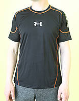 Мужская футболка XFit 8683 черная с оранжевым код 0130В