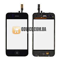 Тачскрин (сенсор) со стеклом и рамкой для iPhone 3GS, цвет черный