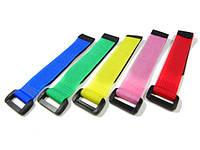 Стяжки на липучке Tarot 20см 5шт цветные для крепления аккумуляторов (TL1066-02)