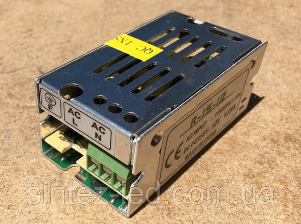 Блок питания R-15-12 15 Вт 1.25A IP20 PREMIUM (перфорированный) Код.58668