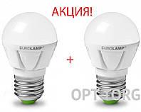 EUROLAMP  Промо-набор EUROLAMP Светодиодная лампа LED TURBO G45 7W E27 4000K акция 1+1