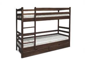 Двох'ярусне ліжко Засоня з ящиками з масиву вільхи Мікс меблі, фото 2