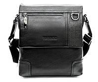 Оригинальная мужская сумка из натуральной кожи черная
