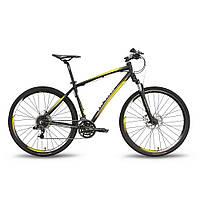 """Велосипед 28'' PRIDE CROSS 3.0 рама - 19"""" черно-жёлтый матовый 2016"""