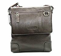 Оригинальная мужская сумка из натуральной кожи коричневая