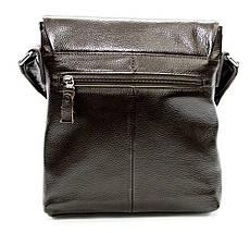 Оригинальная мужская сумка из натуральной кожи коричневая, фото 3