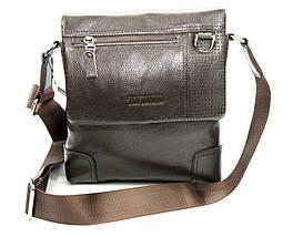 Оригинальная мужская сумка из натуральной кожи коричневая, фото 2