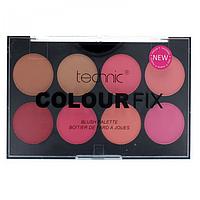 Палитра румян 8 оттенков Technic Colour Fix Blush Palette