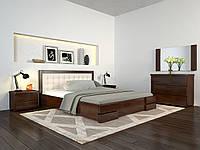 Кровать деревянная Регина Люкс из натурального дерева полуторная
