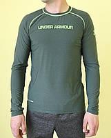 Футболка с длинным рукавом Under Armour 8895 темно зеленая код 0135В