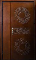 Двери металлические двупольные с влагостойкой фанерой