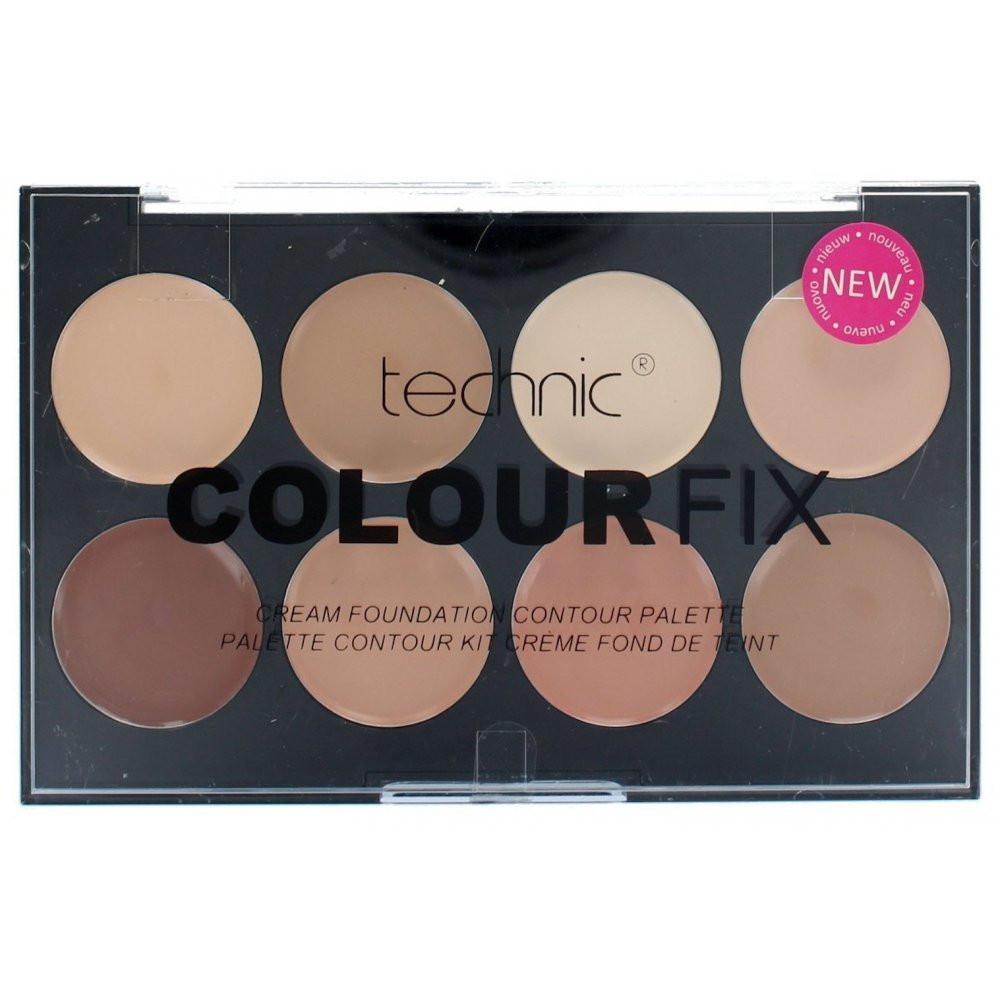 Палитра 8 корректоров для лица Technic Colour Fix Cream Foundation Contour Palette