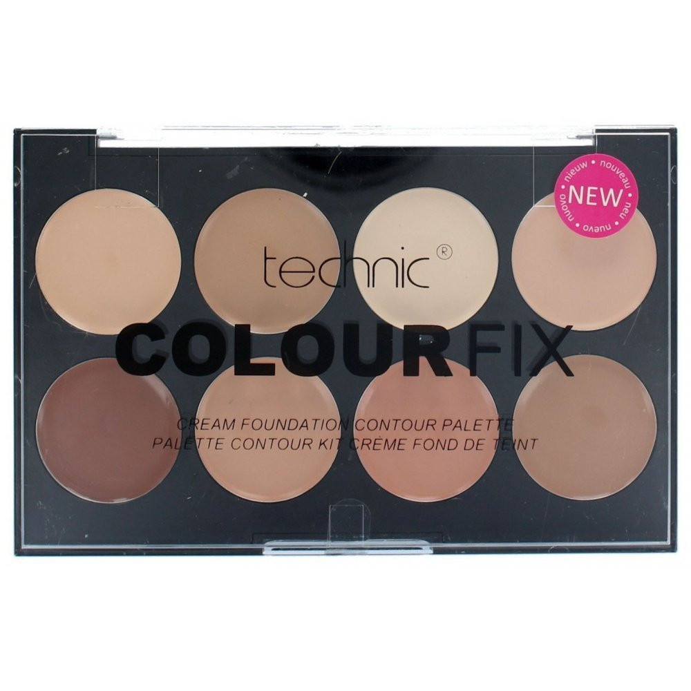 Палитра 8 корректоров для лица Technic Colour Fix Cream Foundation Contour Palette, фото 1